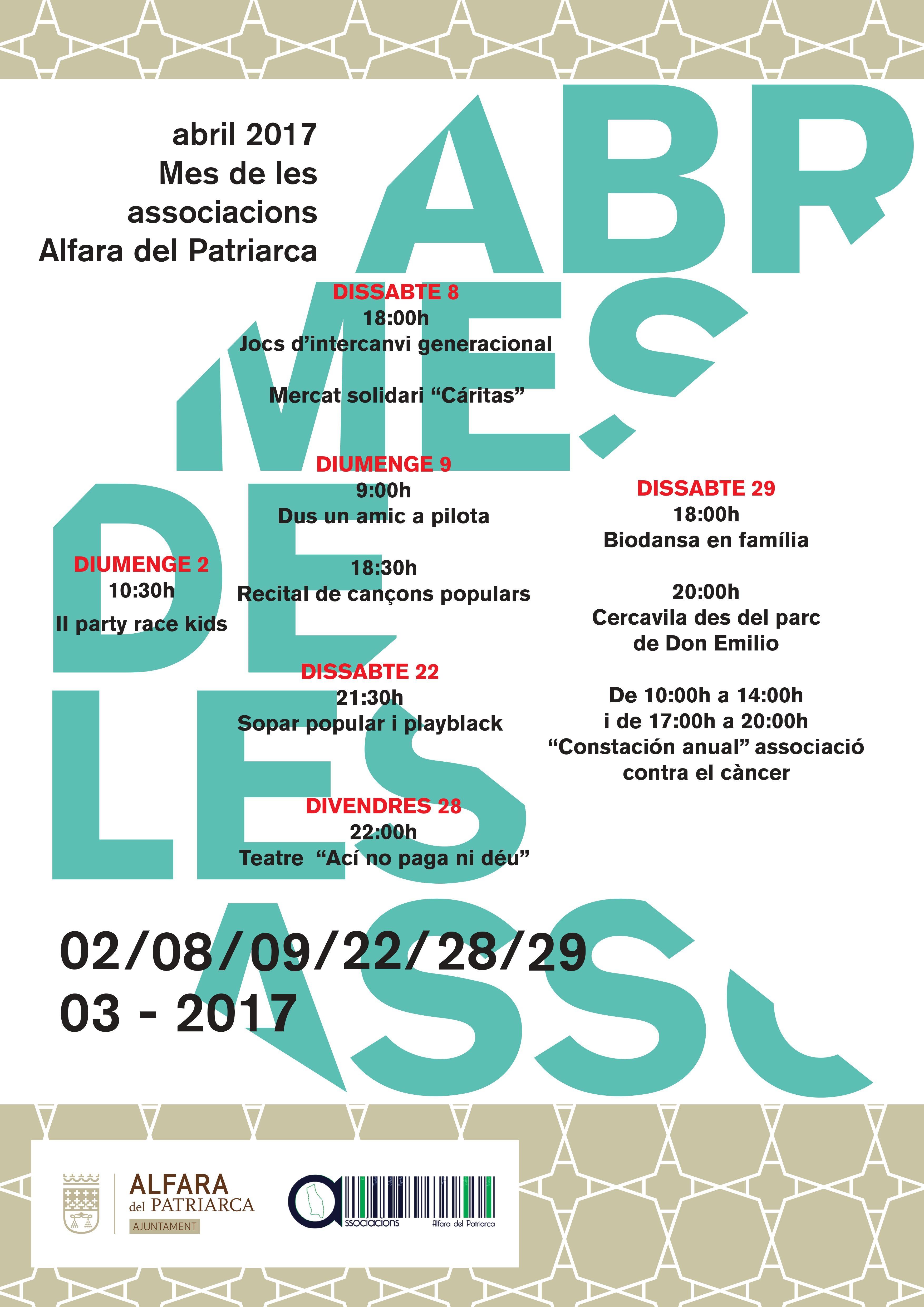 Cartell mes associacions 2017
