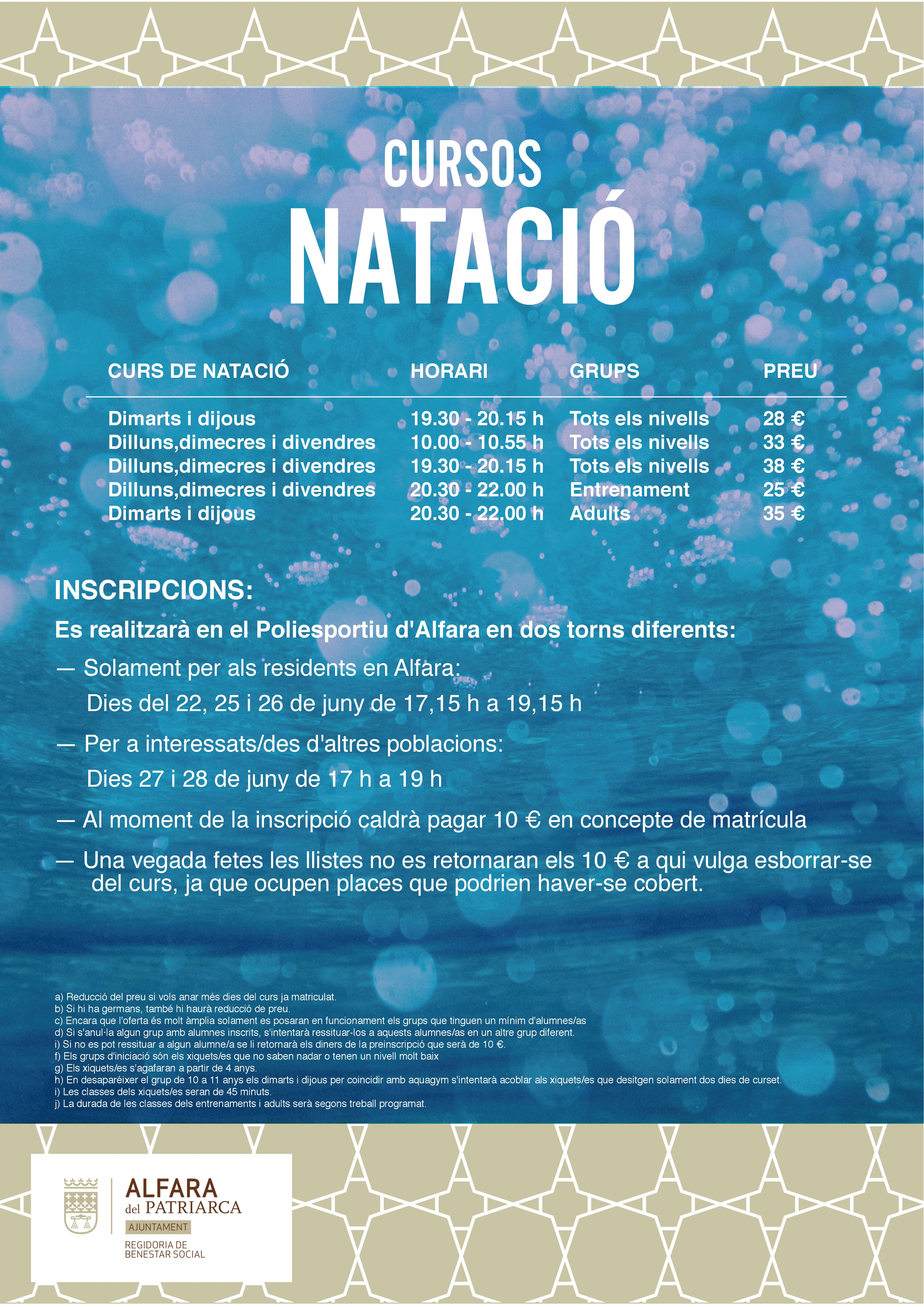 CURS NATACIO 2018